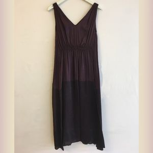 Piazza Sempione Deep Purple Silk Sleeveless Dress
